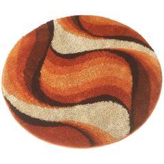 "Vintage 1970s Multicolor Pop Art ""Wave"" Rug Made by Desso, Germany"