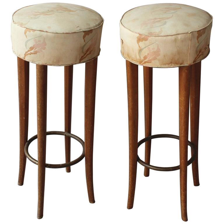 Pair Of Fine French Art Deco Bar Stools For Sale