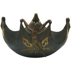 """Erté """"Ocean Bowl"""" I, Bronze Sculpture"""