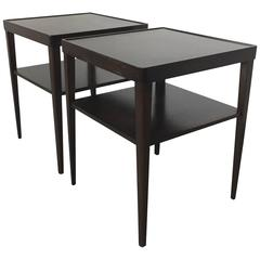 Widdicomb Walnut Side Tables, Pair