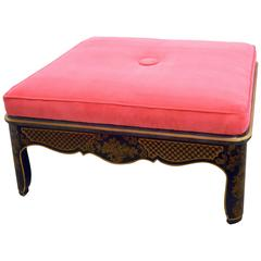 Hollywood Regency Chinoiserie Ottoman