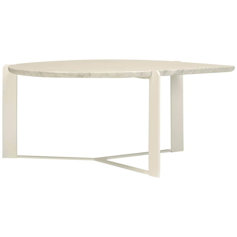 Bead Coffee Table With White Metal Base For Sale At 1stdibs