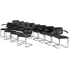 Cesca Chairs, Set of 12 by Marcel Breuer for Knoll International