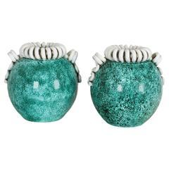 Pair of Sainte Radegonde Vases