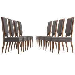 Set of Eight Beach Dining Chairs