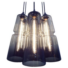 Groove Series Aurae Chandelier - Modern Handmade Lighting - Made to Order