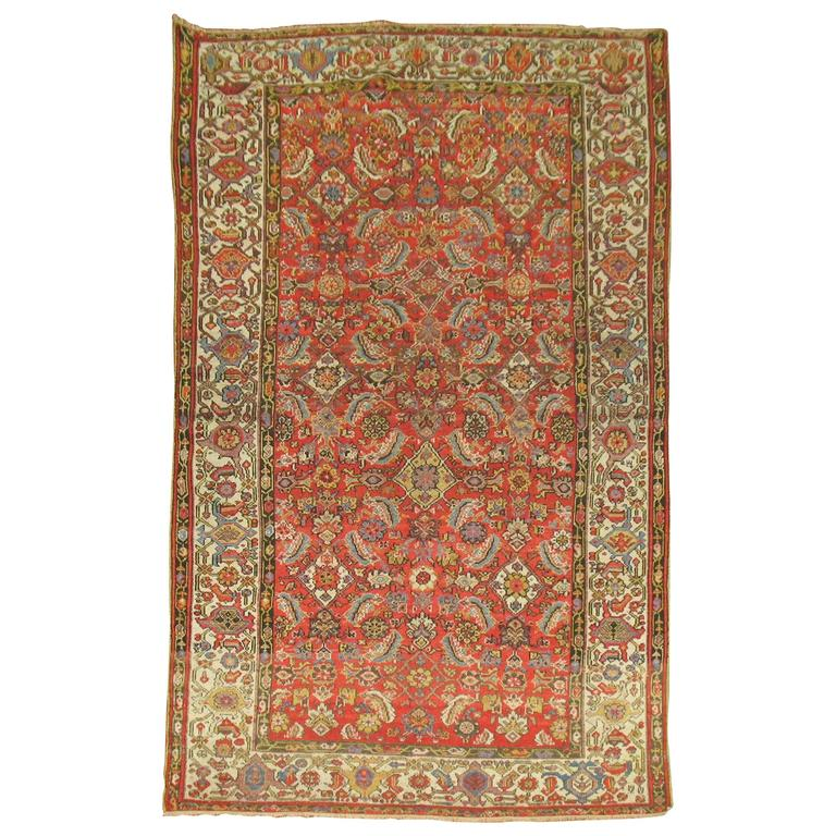Persian Malayer Rug with Red Herati Design Field 1