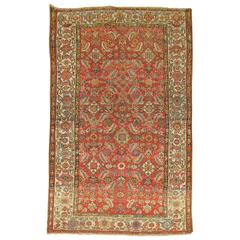 Persian Malayer Rug with Red Herati Design Field