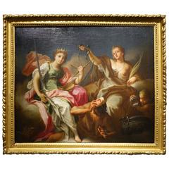 Allegory of Justice and Temperance Attributed to Benedetto Luti