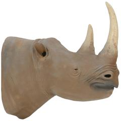 1950s Museum Full Scale African Black Rhinoceros Model