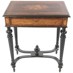 Neoclassical Vanity Table with Marquetry Decoration