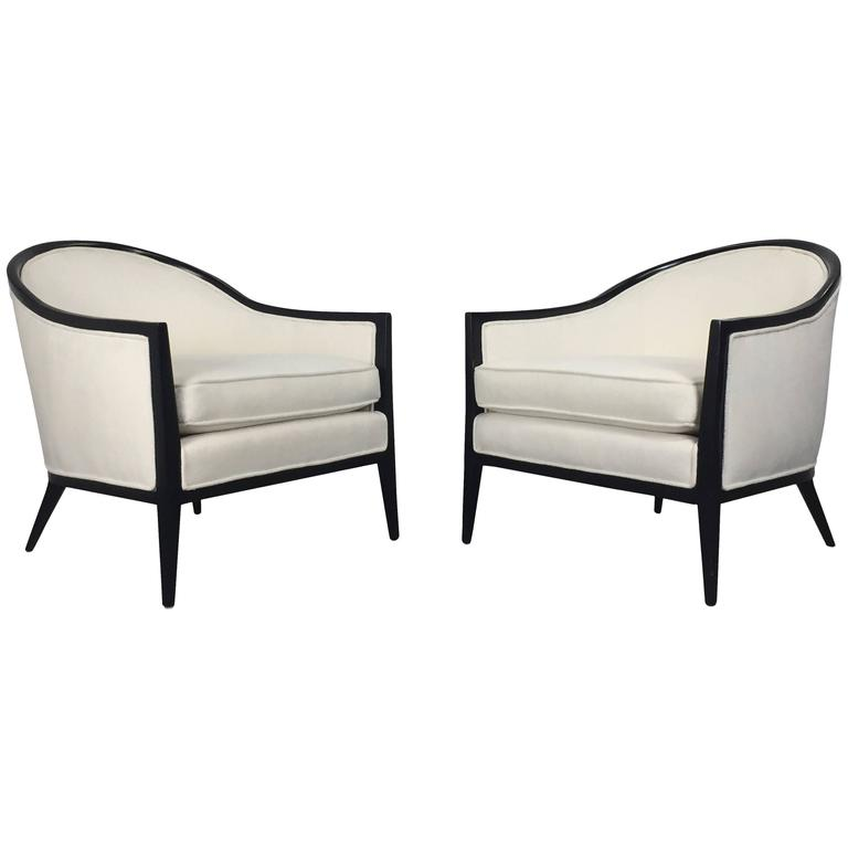 Harvey Probber Ebonized Lounge Chairs, a Pair 1