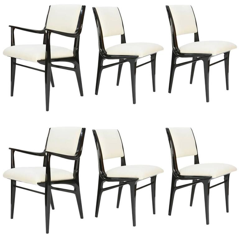 Elegant Set of 6 Dining Chair by John Van Koert's Profile Line for Drexel 1