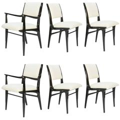 Elegant Set of 6 Dining Chair by John Van Koert's Profile Line for Drexel