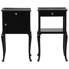 Pair of Ebonized Art Deco Side Tables