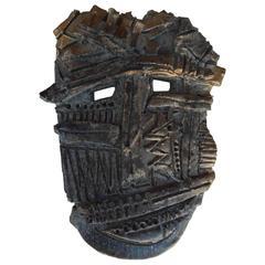 Studio Ceramic Mask by Tucson Ceramist Maurice Grossman