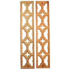 Early 20th Century Oak Gothic Panels with Deep Relief