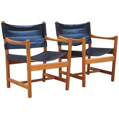Danish Safari Chairs by Fin Ditte & Adrian Heath