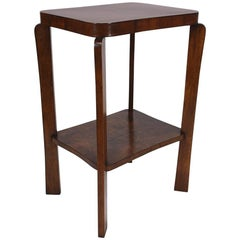 French Art Deco Walnut Side Table