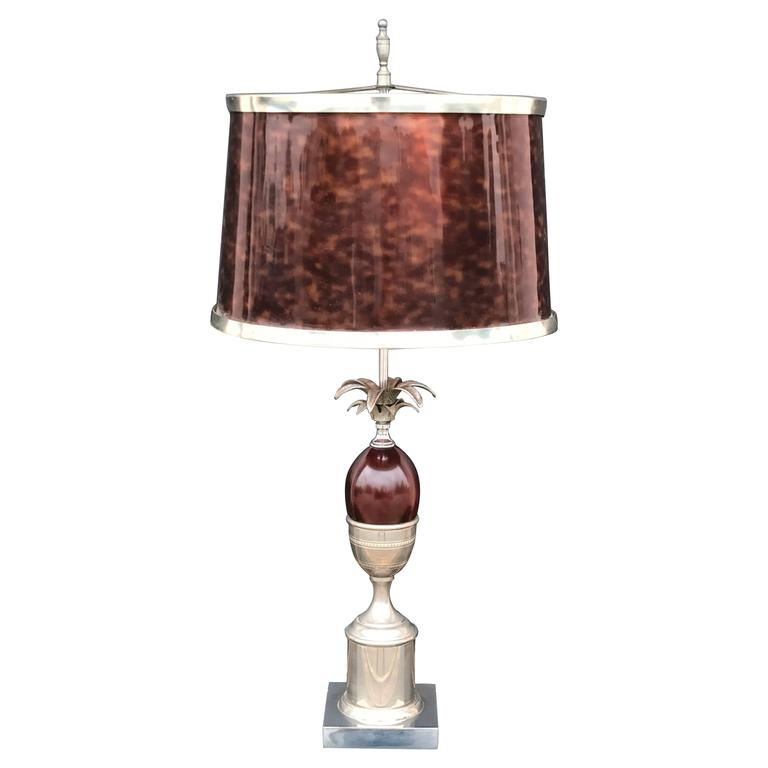 Pineapple Lamp Style of Maison Charles in Faux Tortoise Shell For ...