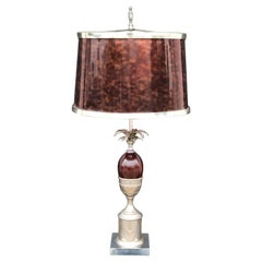 Pineapple Lamp Style of Maison Charles in Faux Tortoise Shell