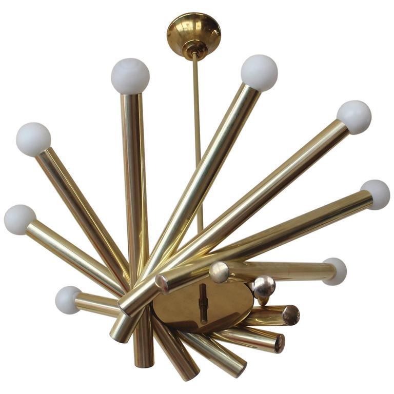 Stilnovo Brass Chandelier 1