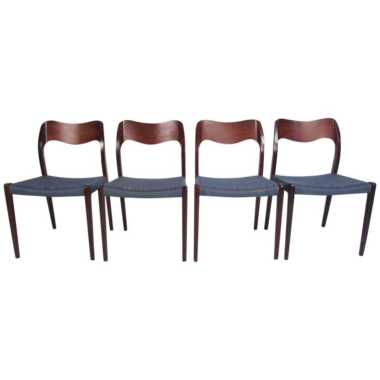 "Set of Mid-Century N.O. Møller ""71"" Dining Chairs"