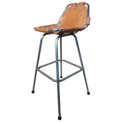 Selected by Charlotte Perriand for the Les Arcs Ski Resort, One High Bar Stool