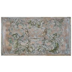 19th Century Italian Carved Painted Panel