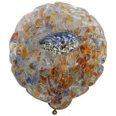 Wall Sconce Murano Art Glass, 1950s,Multicolor Brass