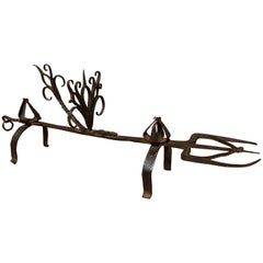 19th Century Hand Forged Iron Roasting Fork