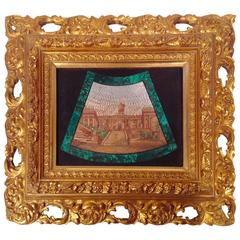 19th Century Framed Micro Mosaic Sculpture