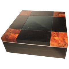 Willy Rizzo Sabot Design Table Bar 1970s Cube