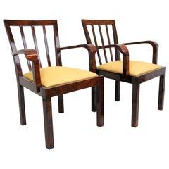 Pair of Art Deco Chairs, Austria circa 1930