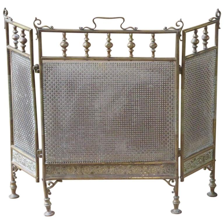 19th Century English Fire Screen Fireplace Screen For Sale At 1stdibs