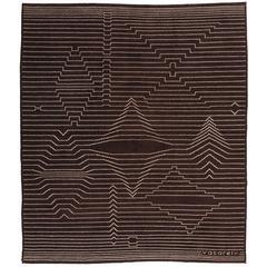 """Victor Vasarely """"Op Art"""" Carpet"""