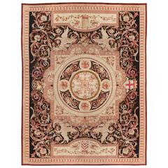 19th Century, French, Savonnerie Carpet with Colbert Coat of Arms