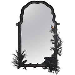 Solid Wrought Iron Forrest Mirror by Alberic Plettinck