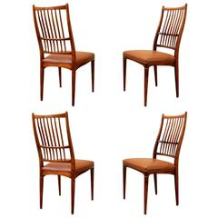Set of Four Dining Chairs, Denmark, circa 1960