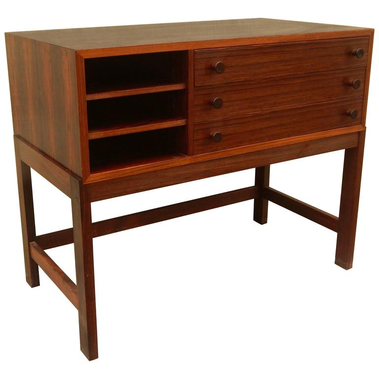 Danish Mid-Century Modern Rosewood Storage Chest, circa 1960 For Sale