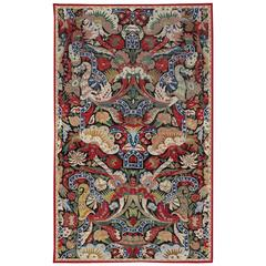 """17th Century Needlepoint French Carpet with """"Bizarre"""" Design"""