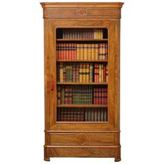 Attractive Walnut French Bookcase