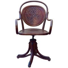 Arts & Crafts Swivel Chair by Josef Kohn, Vienna