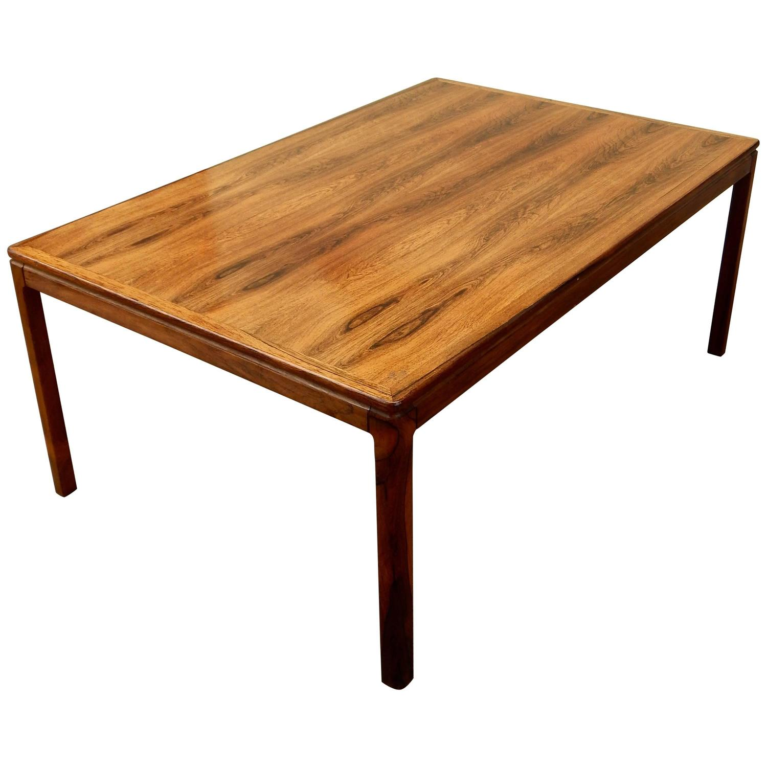 Danish Mid Century Modern Rosewood Coffee Table by Tingstroms For