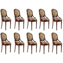 Exceptional Set of Ten Chairs in Mahogany