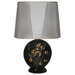 Table Lamp in Texture Ceramic at 1stdibs