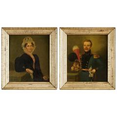 Pair of Belgian Portraits