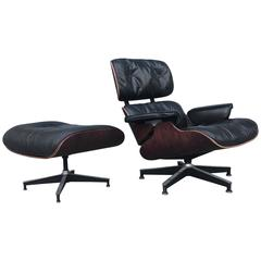 Gorgeous Herman Miller Eames Lounge Chair in Brazilian Rosewood
