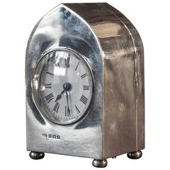 Edwardian Sterling Silver Carriage Clock