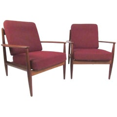 Grete Jalk Lounge Chairs for France & Daverkosen